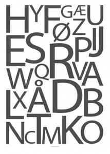 Bilde av Designbyodd, Alfabet grå