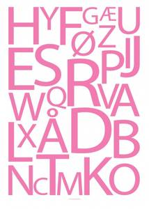 Bilde av Designbyodd, Alfabet rosa