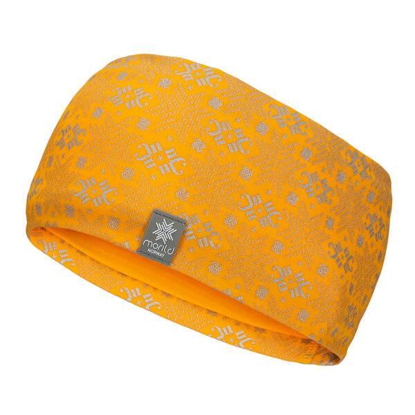 Bilde av Morild Glitre pannebånd med refleks varm gul