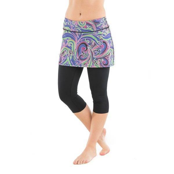 Bilde av Lotta Breeze Capri Skirt Free Love Print/Black