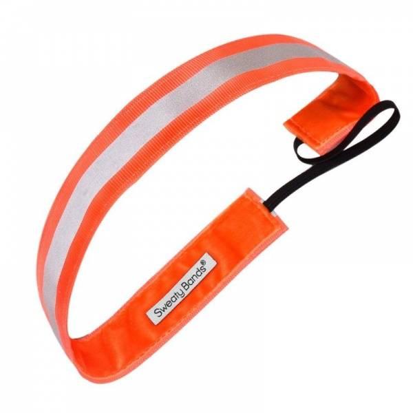 Bilde av Sweaty Bands Reflective Runner hårbånd neon oransje
