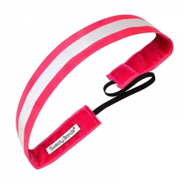Bilde av Sweaty Bands Reflective Runner hårbånd rosa