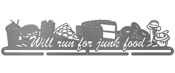 Bilde av Will Run For Junk Food medaljehenger