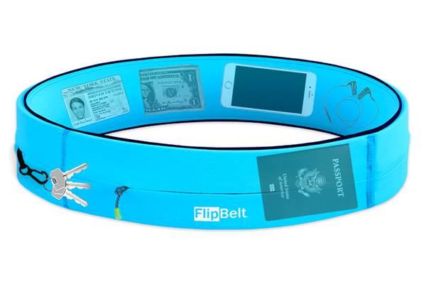 FlipBelt Zipper Aqua