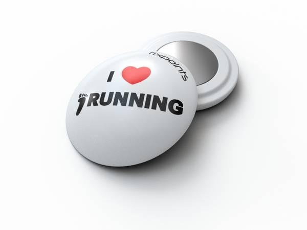 Bilde av Fixpoints I Love Running startnummermagneter