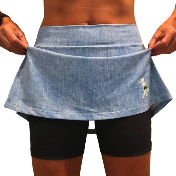 Athletic Skirt Faded Denim