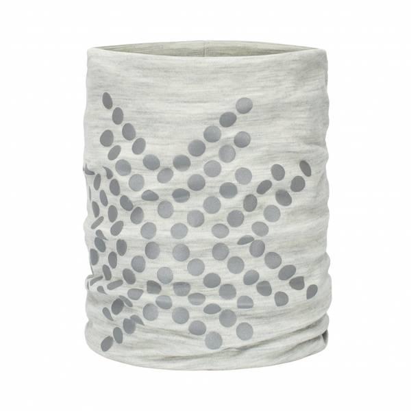 Bilde av Morild Sølvfaks hals i ull med refleks lys grå