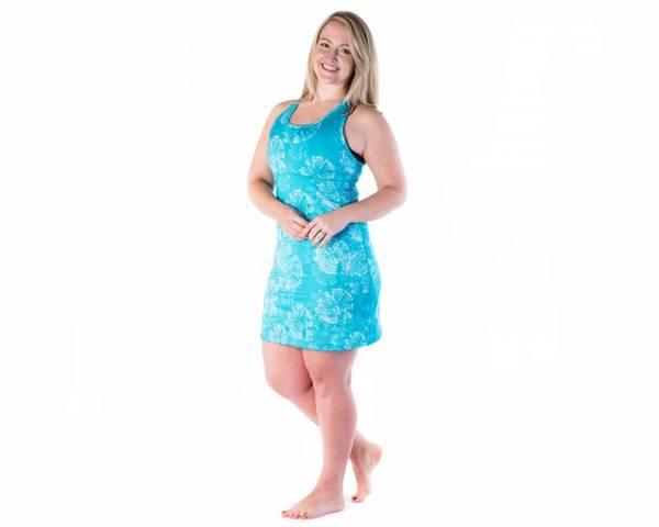 Bilde av Wonder Girl Dress Clarity Print/Aquamarine løpekjole