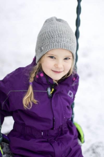 Bilde av Morild Gullhår reflekslue til barn lys grå