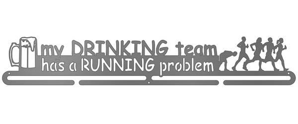 Bilde av My Drinking Team Has a Running Problem medaljehenger
