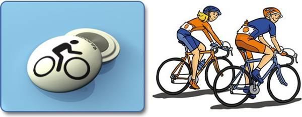 Bilde av Fixpoints Biker hvit startnummermagneter - ekstra sterke