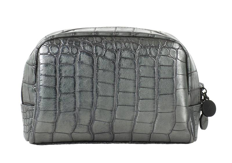 COSMETIC BAG SHIMMERY BLACK