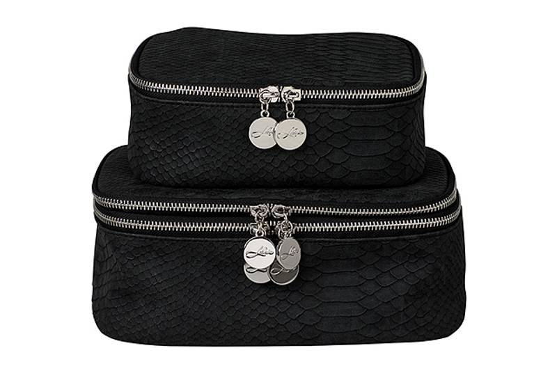 SUZY COSMETIC BAG BRUSHED BLACK
