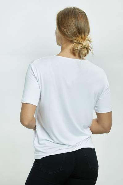 LISA T-SHIRT RUND HALS WHITE