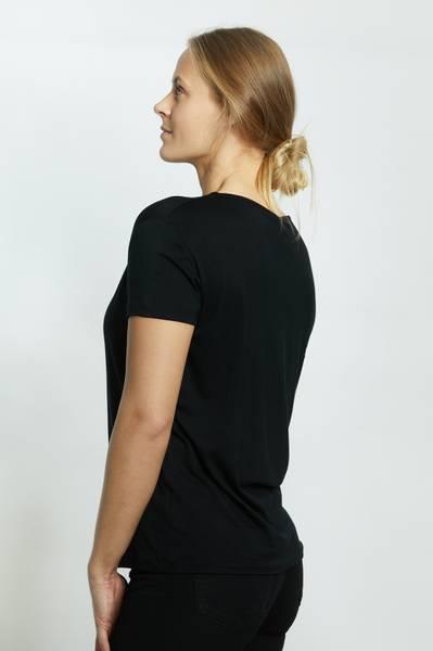 LISA T-SHIRT RUND HALS BLACK