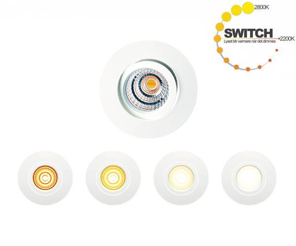10W Infinity Switch 700lm IP44 2800K-2200K RA90