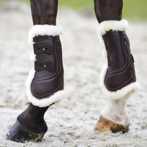 Bilde av Kentucky Sheepskin Leather Tendon Boots Brown