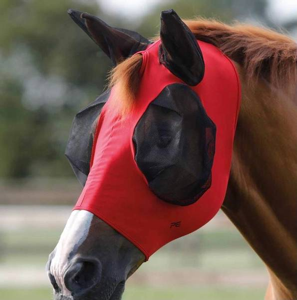 PE Comfort Tech Lycra Fly Mask Red