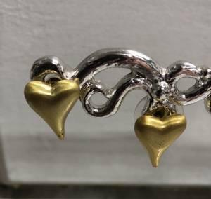 Bilde av  Hjerter øredobber gull