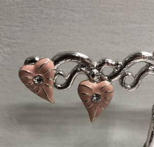 Bilde av Hjerter øredobber rosa