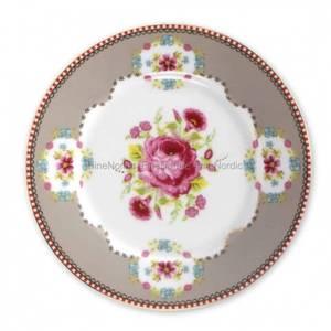Bilde av Asjett pip kake 17cm .Khaki Rosa