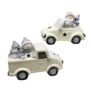 Bilde av Edelweiss bil med julenisse 37x18x26