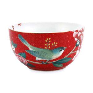 Bilde av Bowl 12cm Rød Blushing Birds
