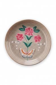 Bilde av Tea tip khaki Blushing Birds 9cm