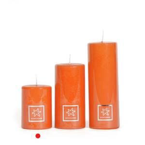 Bilde av Edelwisse Kubbelys 7x10cm  Orange