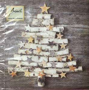 Bilde av Kaffe servietter grå juletre