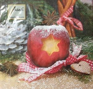 Bilde av Lunsj servietter julemotiv eple