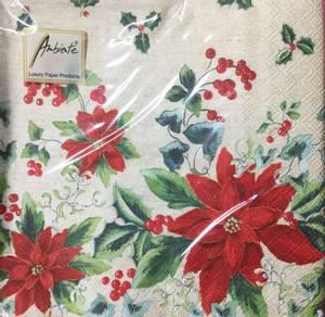 Bilde av Lunsj servietter julestjerne rød