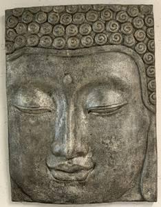 Bilde av Buddah stenimitert veggdekor / bilde