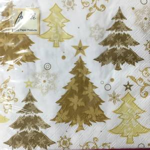 Bilde av Lunsj servietter juletre gull