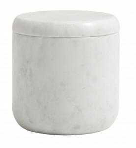Bilde av Nordal Jar w/lid white marble