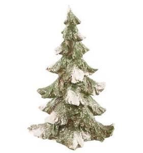 Bilde av Juletre Grønt m snøgliter H.16cm