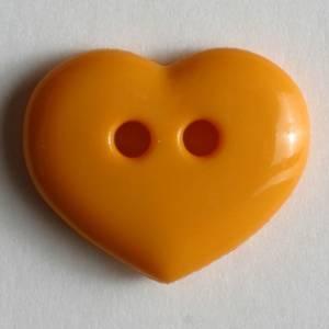 Bilde av Hjerte knapp, Sterk Orange