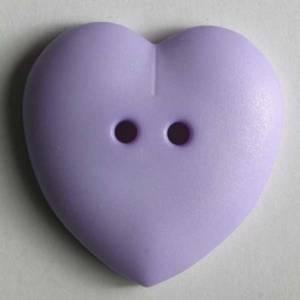 Bilde av Hjerte knapp, lilla