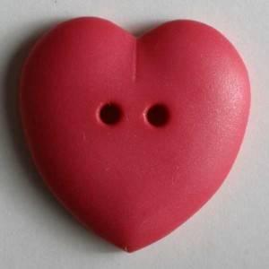 Bilde av Hjerte knapp rosa