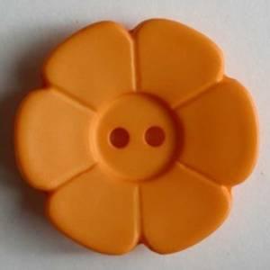 Bilde av Blomst knapp oransj