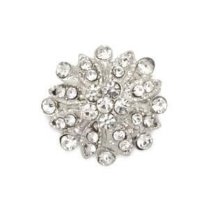 Bilde av Knapp metall/diamanter 22mm