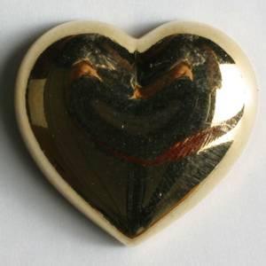 Bilde av Hjerte knapp, gull