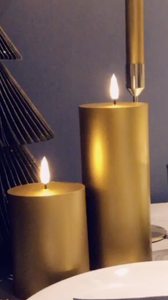 Bilde av Naturtro LED-kubbelys, gull -