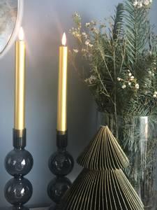 Bilde av Naturtro LED-kronelys, gull