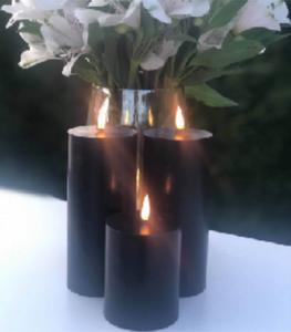 Bilde av Naturtro LED-kubbelys, svart