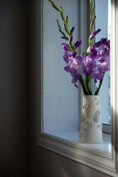 Pimp (stone) Vase - liten - porselen- hvit-