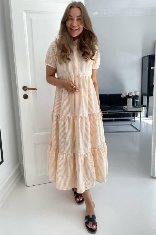 Bilde av BY IC Tiffy Dress Orange Stripe