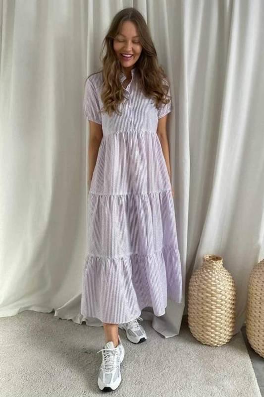 Bilde av BY-IC Tiffy Dress Purple Stripe