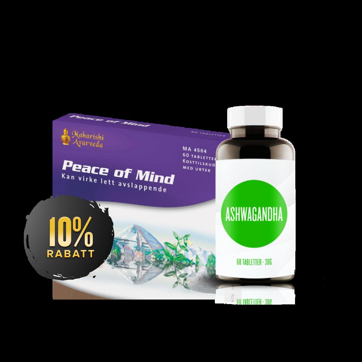Stressfripakken (Peace of Mind + Ashwagandha)