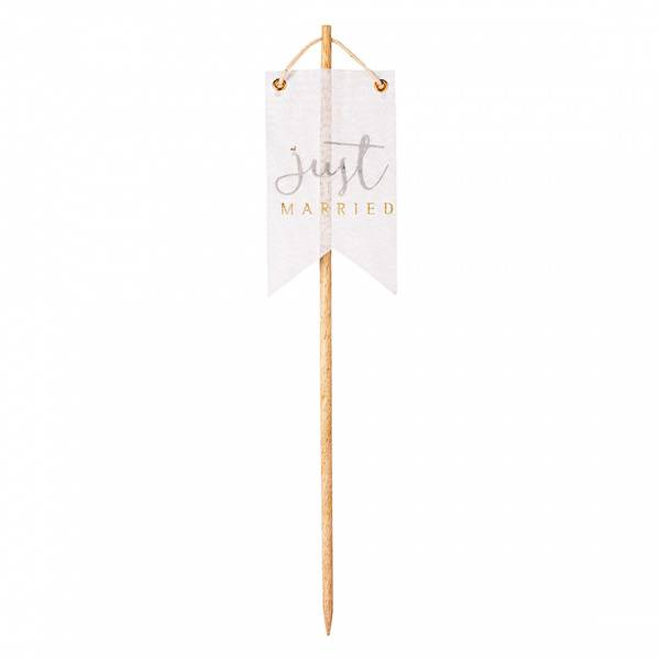 Pennant stick just married Height:33cm 7x12cm
